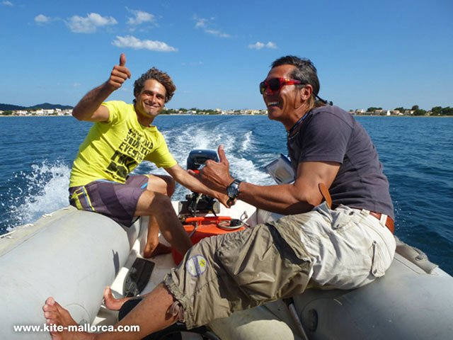 Gerhard and Daniel on the rescueboat